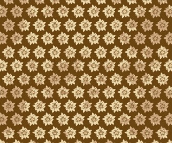 Autumn Flower Pattern Vector
