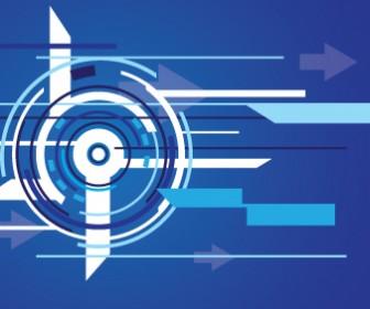 Circle Shape Techno Background