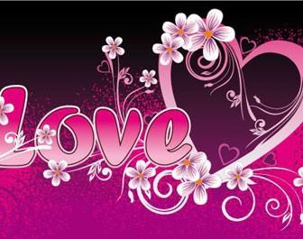 Floral Heart Love Card