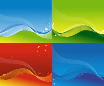 Colorful Wave Graphic Background