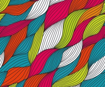 Abstract Textile Pattern Colorful Vector