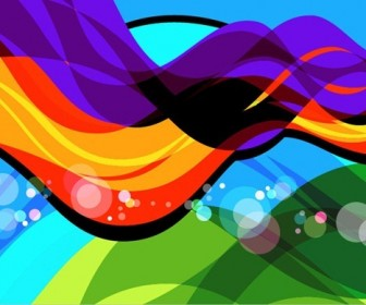 Colorful Wave Art Abstract Background