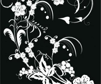 Black & White Flower Vector Art