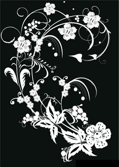 Black white flower vector art free vector art black white flower vector art download link preview this vector mightylinksfo