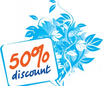 Floral Discount Sign