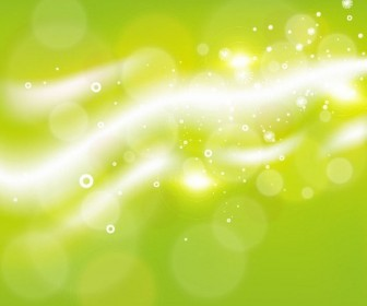 Green Abstract Bubble Background