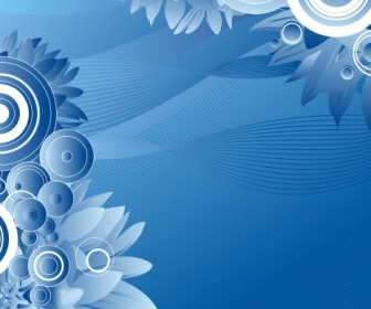 Blue Floral Frame Background