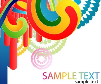 Colorful Curve Background Image