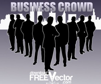 Business Crowd Silhouette