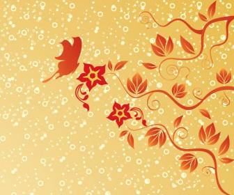 Swirl Floral Frame Wallpaper