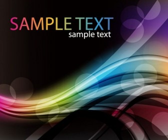 Colorful Curved Background Template