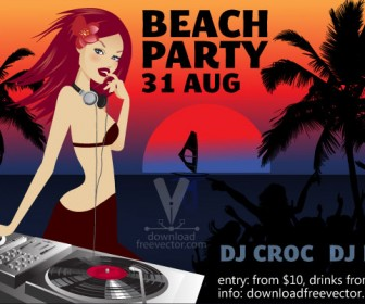 Beach Party & DJ Girl