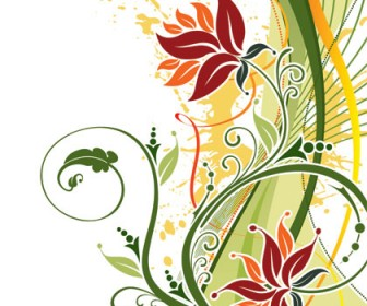Flower Ornament Art Background
