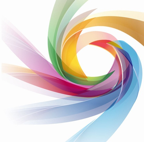 Colorful Abstract Swirl Wallpaper