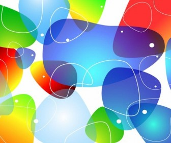 Colorful Glossy Bubble Background