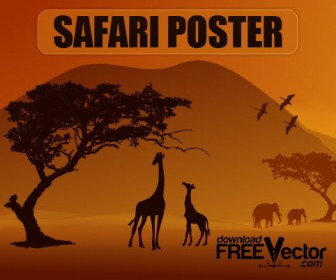 Safari Poster Vector