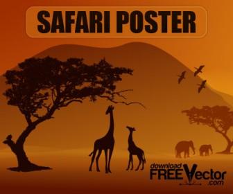 Safari Poster Vector