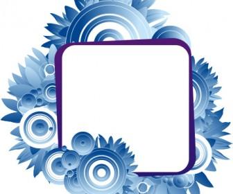 Blue Floral Frame Clip Art