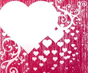 Grunge Heart Decoration