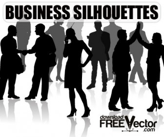 Business Silhouette People