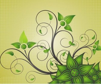 Swirl Flower Frame Decoration