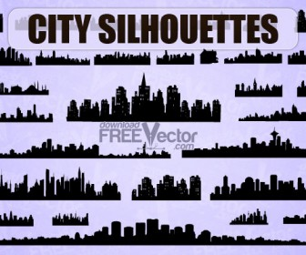 City Silhouette Vector Pack