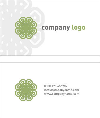 company logo business card download link preview this vector