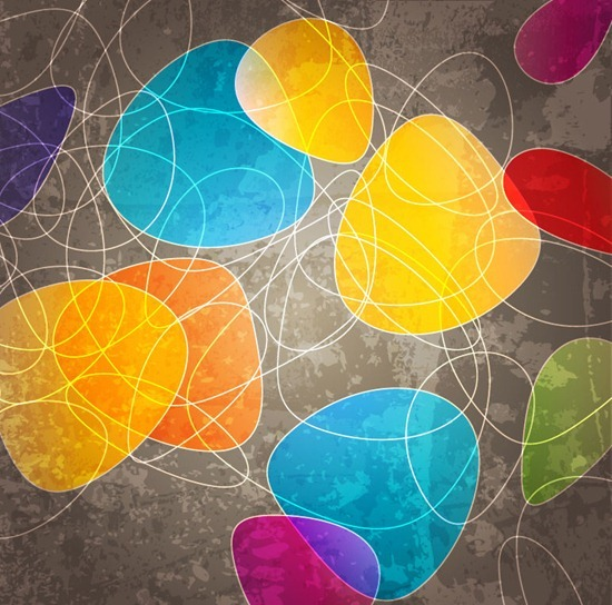 Abstract Curve Shapes Background Free Vector Art