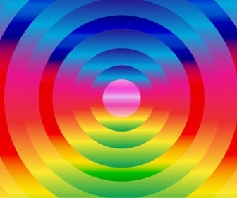 Circle Rainbow Background