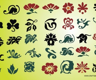 Flower Silhouettes Graphics