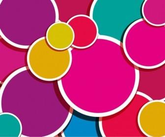 Abstract Colorful Circle Wallpaper
