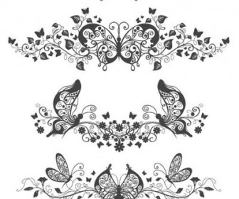 Floral and Butterfly Patterns