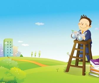 Businessman Cartoon Wallpaper