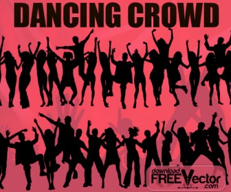 Dancing Crowd Silhouettes