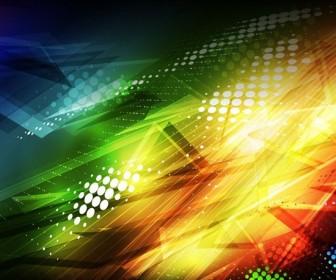 Colorful Grunge Shapes Background