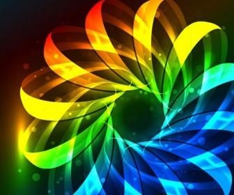Abstract Colorful Circles Wallpaper
