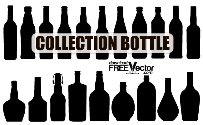 Bottle Silhouettes Pack Free Vector Art