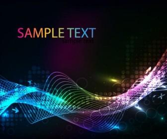 Colorful Laser Waves Background