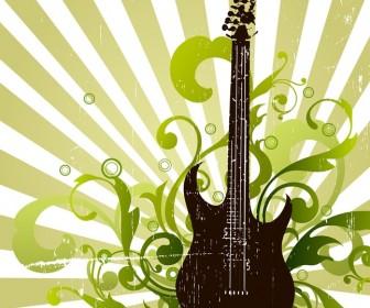 Grunge Guitar Banner