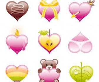 Valentine Hearts Icon Set