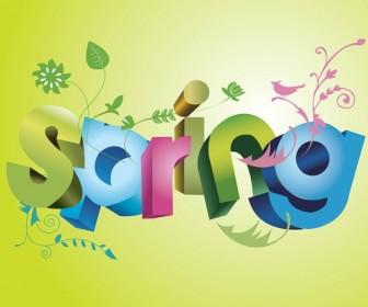 Spring 3D Text