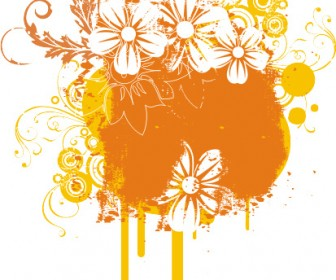 Beautiful Flowers Grunge Banner