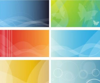 6 Colorful Business Cards Background
