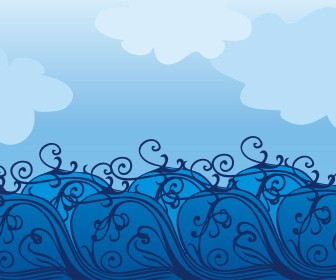 Swirl Decoration Background