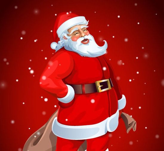 santa claus illustration - Santa Claus Red