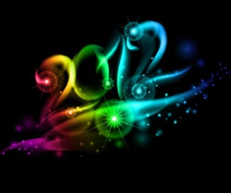 Abstract 2012 Text Lighting Background
