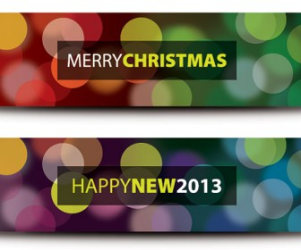 Christmas New Year Banners