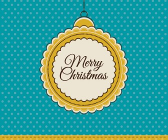 Retro Circle Christmas Card