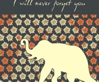 Elephant Card Template