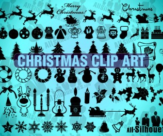 Christmas Silhouettes Shapes